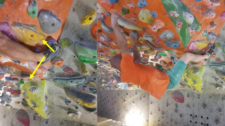 Učenje plezalne tehnike 3. del – zatikanje pete