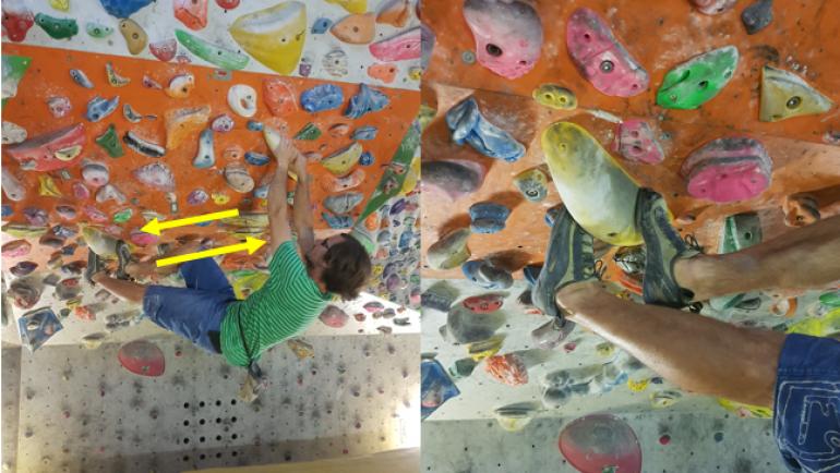 4.del – Tehnika plezanja – zatikanje prstov