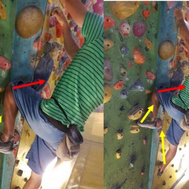 5.del – Plezalna tehnika – Zatikanje kolena in drugih delov telesa