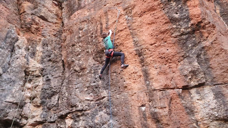 Kamnitnik – Patrik preplezal prvo 6b – 12. marec 2020